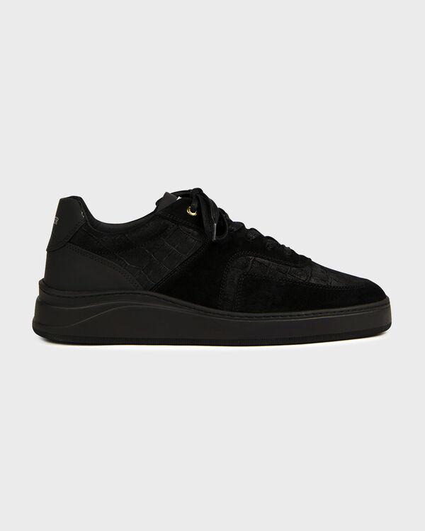 Lowtop 4.0 Gum Leather Suede Croc Black