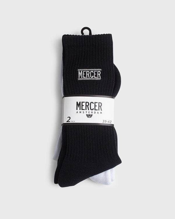 Mercer Socks 2 Pack Cotton White/Black