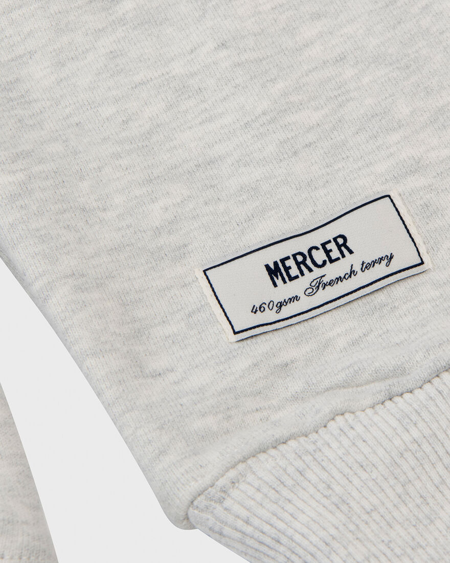 MERCER SWEATSHIRT - PREMIUM COTTON - GREY, Grey, hi-res