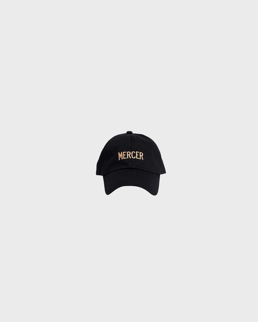 Mercer Dad Cap Premium Cotton Black, Black, hi-res