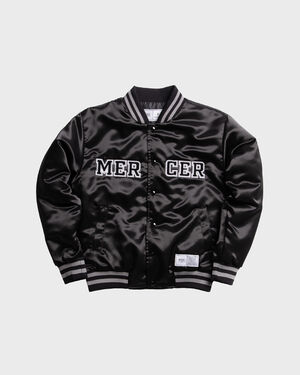 Mercer Varsity Jacket Satin Black