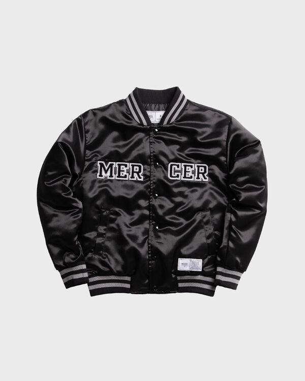 Mercer Varsity Jacket Satin Black
