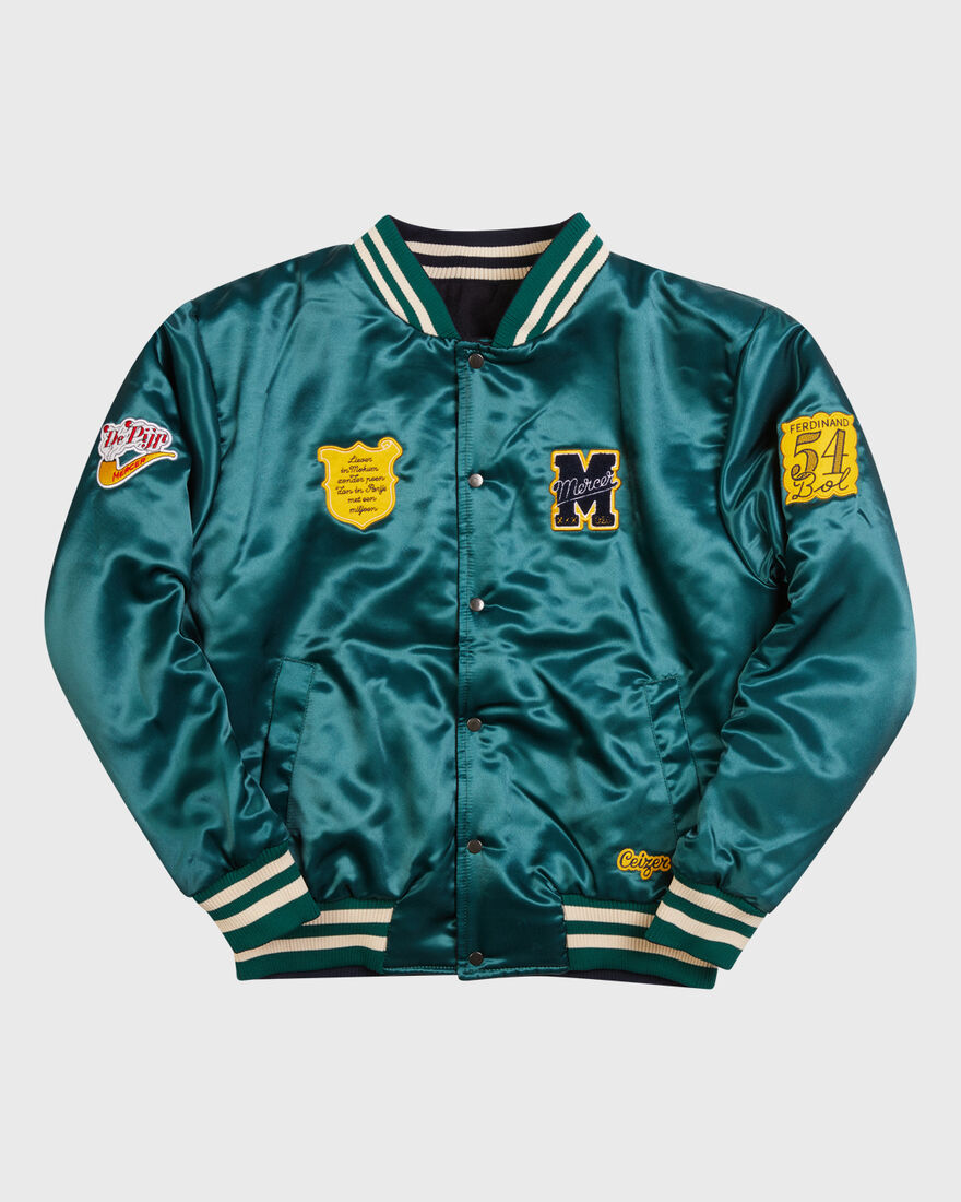 Mercer x Ceizer Reversible Varsity Jacket, Green, hi-res