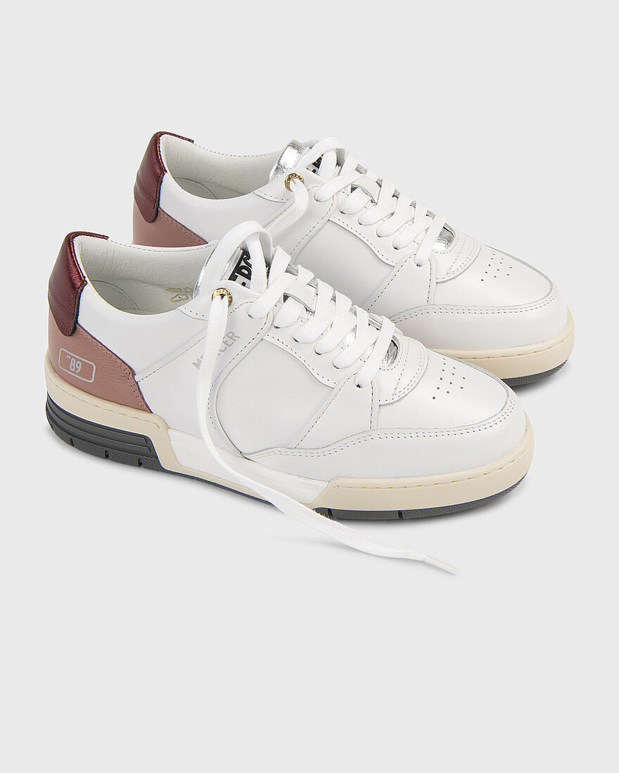 "BASKET ""89 - NAPPA - WHITE / GREY / GREEN, White/Red, hi-res"