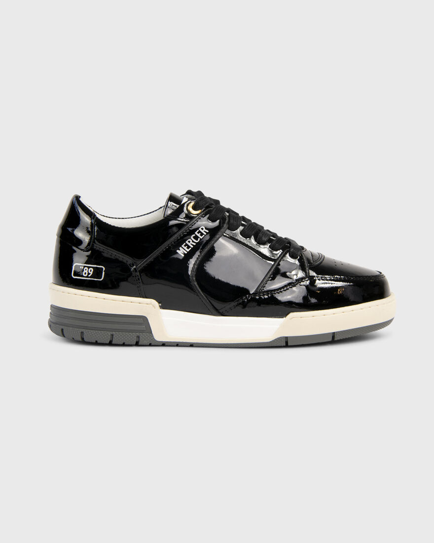 "BASKET ""89 - PATENT LEATHER - WHITE, Black, hi-res"