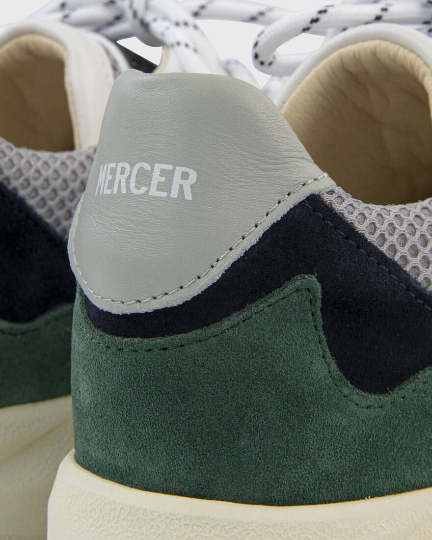 RACER - SUEDE METALLIC - CREAM / BLUE, Navy/Green, hi-res