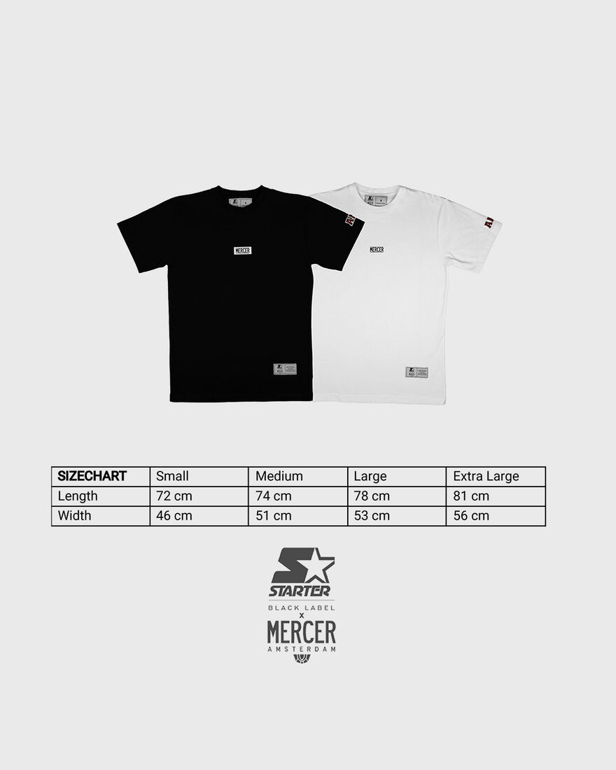 MERCER TEE - PREMIUM COTTON - WHITE, Black, hi-res