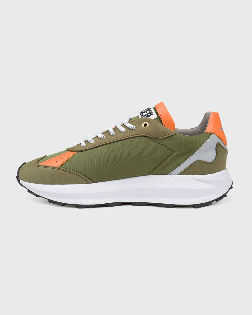 RACER - VEGAN LEATHER / NYLON, Army green, hi-res