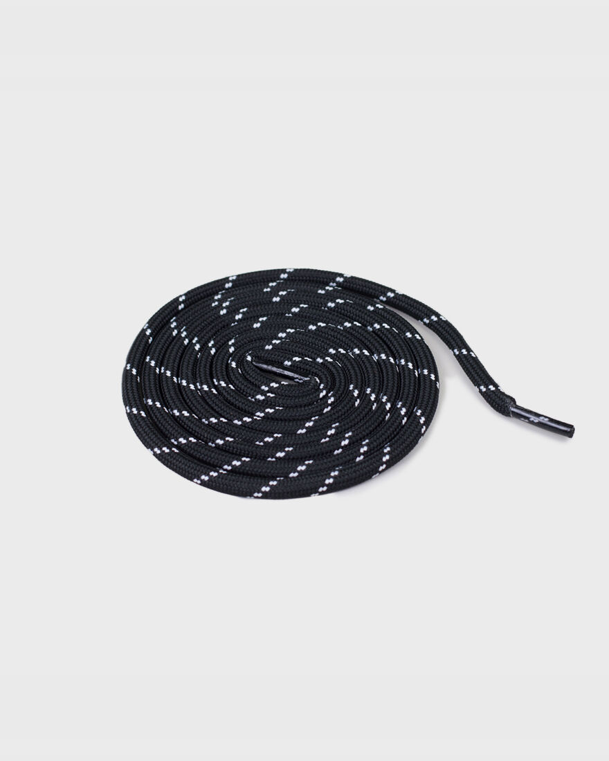 MERCER LACES - THICK ROUND - B, Black/White, hi-res