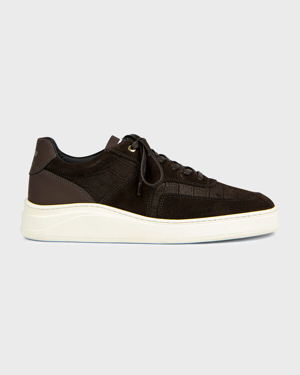 Lowtop 4.0 Gum Leather Suede Croc Brown