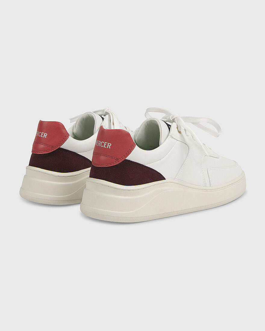 LOWTOP 4.0 - GUM LEATHER PYTHON - BLACK, White/Red, hi-res