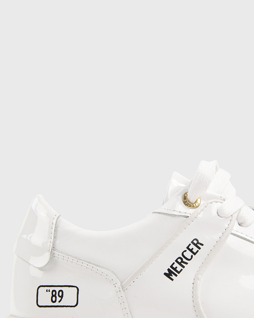 "BASKET ""89 - PATENT LEATHER - BLACK, White, hi-res"