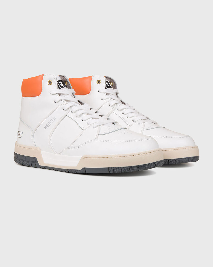 "BASKET ""88 - NAPPA - BLACK, White/Orange, hi-res"