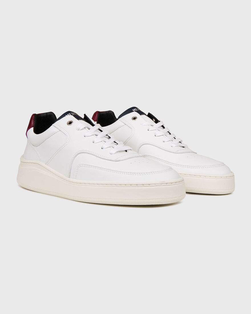 LOWTOP 4.0 - VEGAN LEATHER - A, White/Red, hi-res