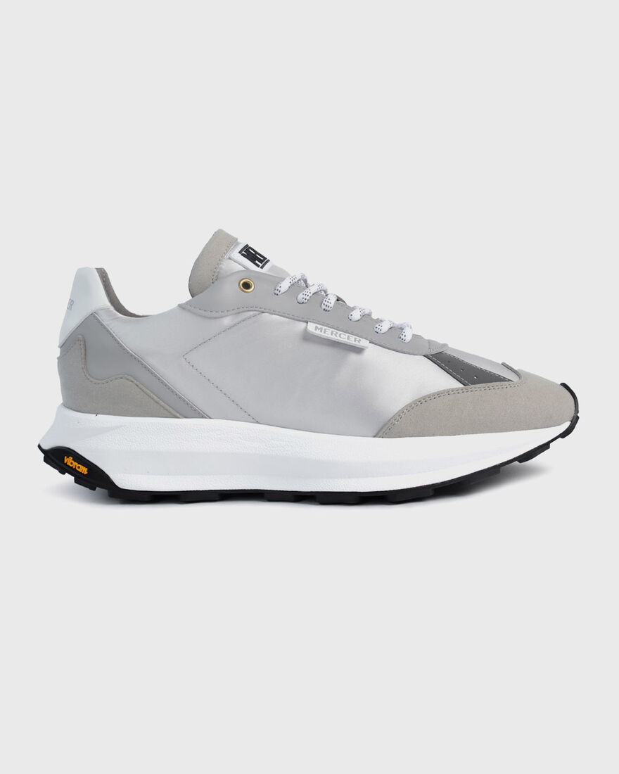 RACER - VEGAN LEATHER / NYLON, White, hi-res