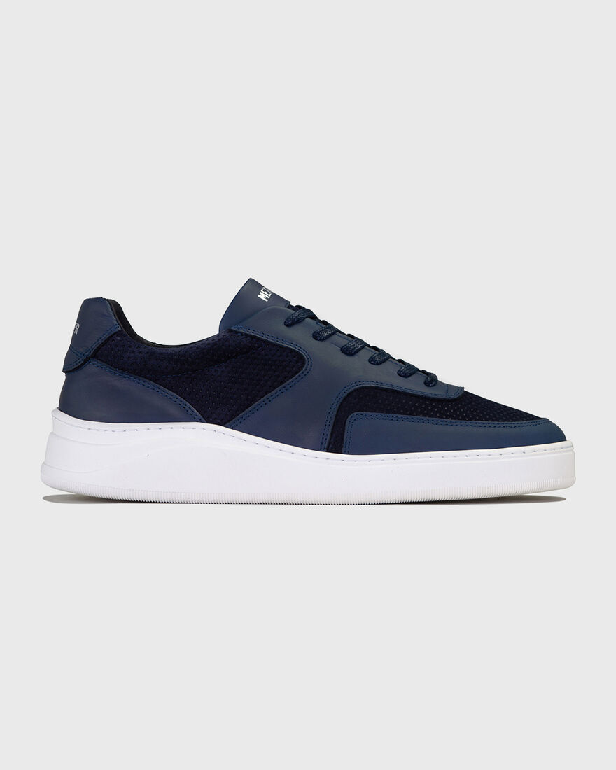 LOWTOP 4.0 - GUM LEATHER MESH, Navy, hi-res