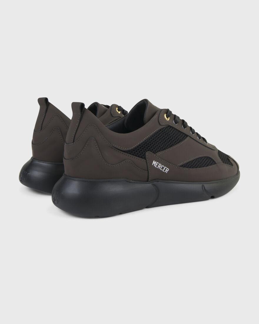 W3RD - MATTE GUM LEATHER - TRIPLE BLACK, Brown, hi-res