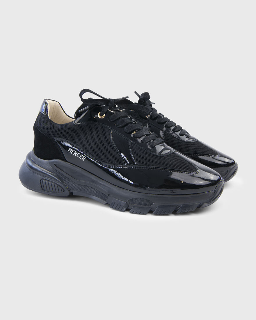 WOOSTER 2.5 - PATENT LEATHER - BLACK, Black/White, hi-res