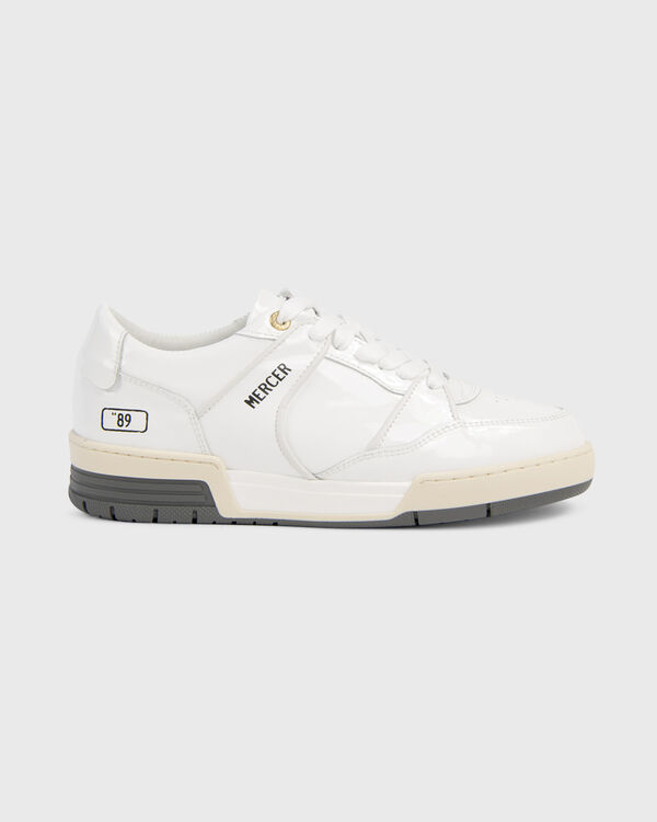 """Basket """"89 Patent Leather White"""