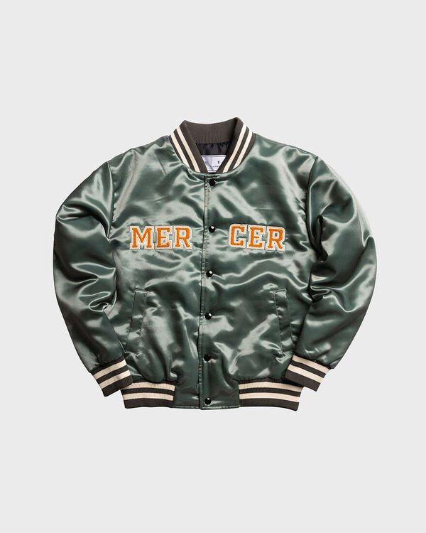 Mercer Varsity Jacket Satin Olive