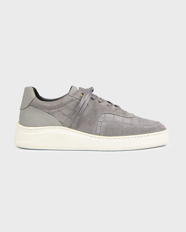 Lowtop 4.0 Gum Leather Suede Croc Grey