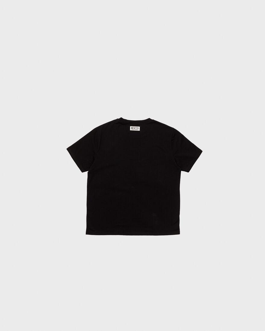 MERCER T-SHIRT - PREMIUM COTTON - WHITE, Black, hi-res