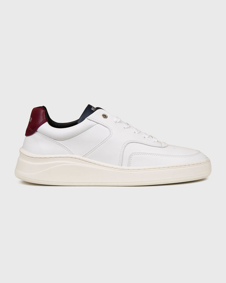 LOWTOP 4.0 - VEGAN LEATHER - N, White/Red, hi-res
