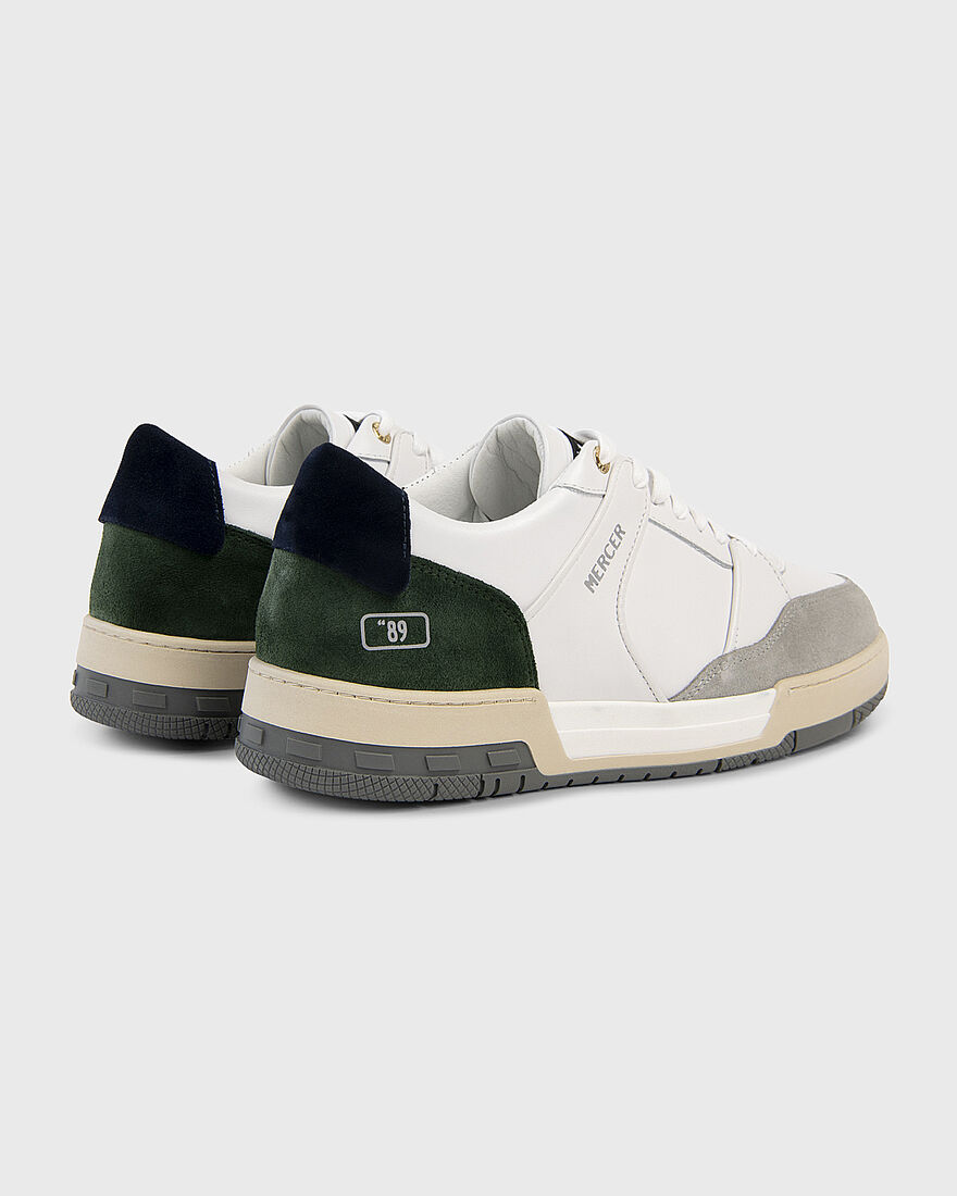 """BASKET """"89 - PATENT LEATHER - WHITE, Green/Blue, hi-res"""