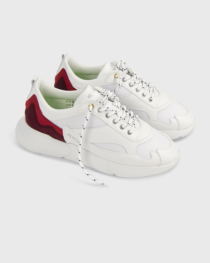 W3RD - VEGAN WINE LEATHER - WHITE, White/Red, hi-res