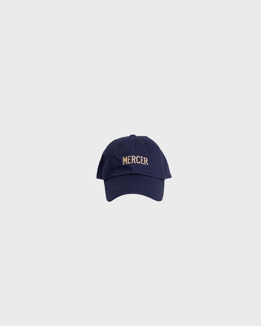 Mercer Dad Cap Premium Cotton Navy, Navy, hi-res
