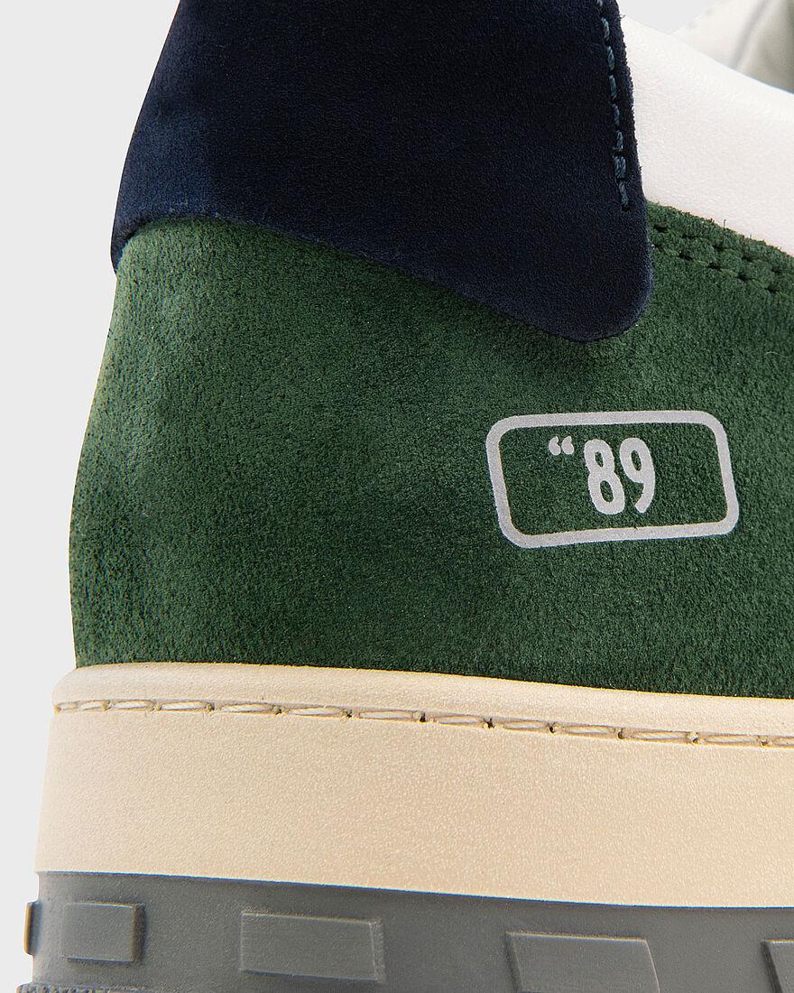 """BASKET """"89 - PATENT LEATHER - BLACK, Green/Blue, hi-res"""