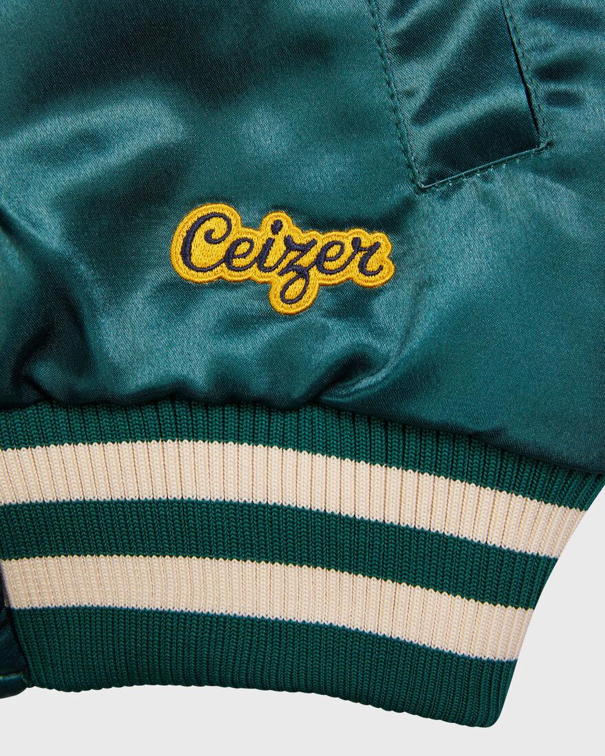 Mercer x Ceizer Reversible Varsity Jacket, Green, hi-res