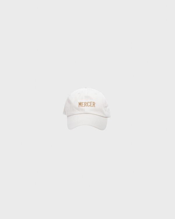 Mercer Dad Cap Premium Cotton White