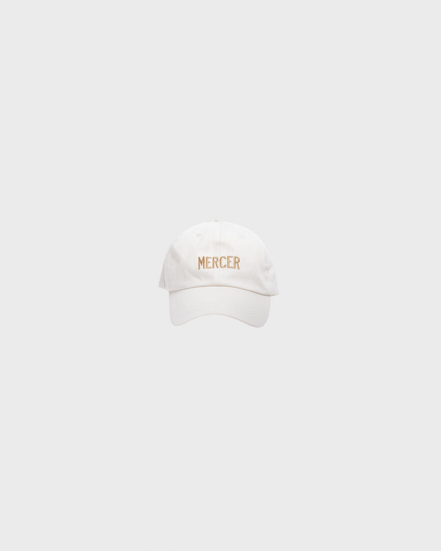 Mercer Dad Cap Premium Cotton White, White, hi-res