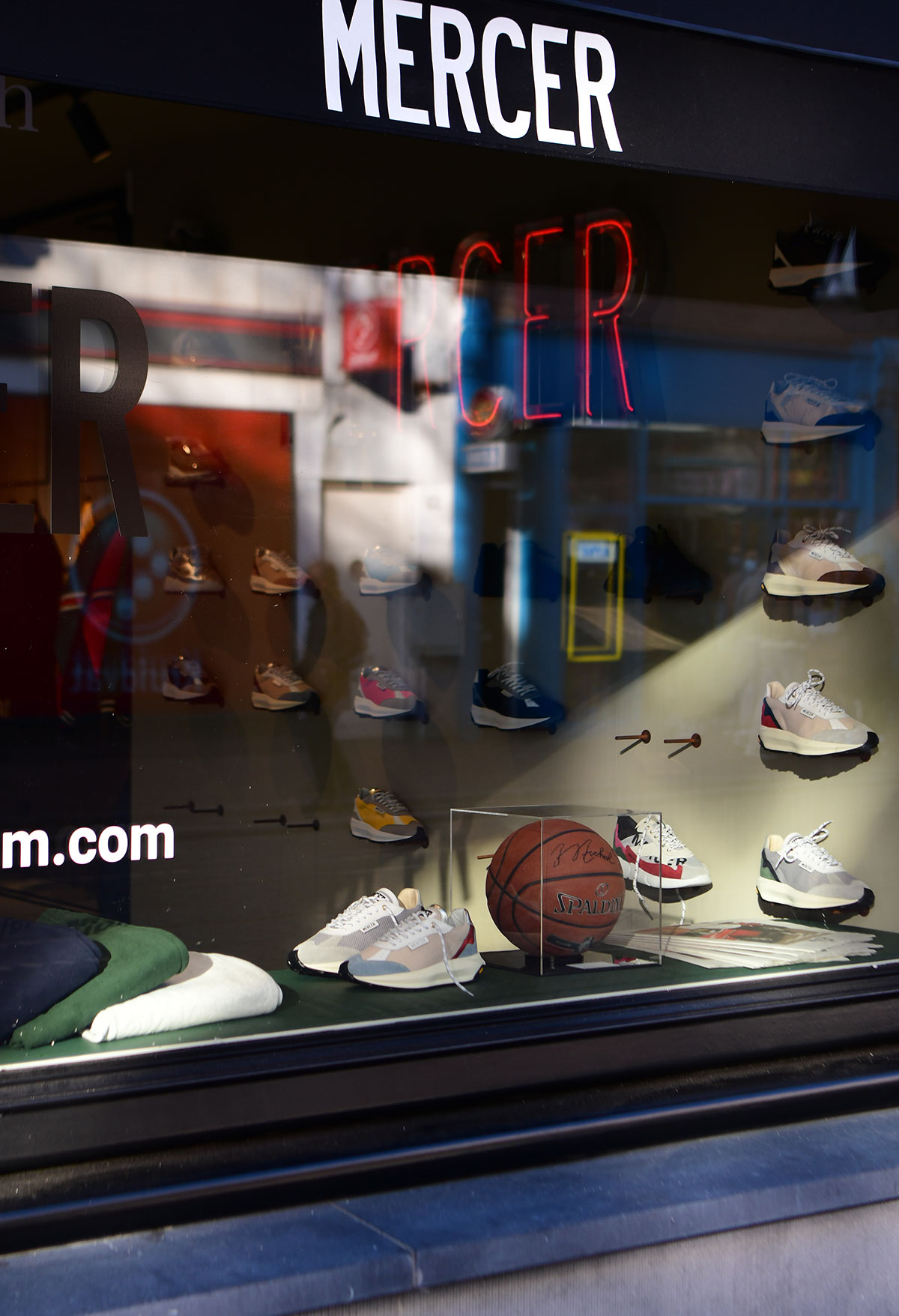 Mercer Brand Store Window Amsterdam